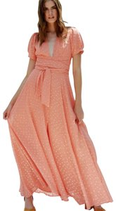 Coral Maxi Dress by Free People Chiffon Party