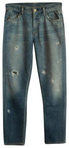 Goldsign 24 Xs J. Crew Destroyed Vintage Straight Leg Jeans-Distressed