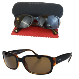 Chanel Auth CHANEL CC Quilted Sunglasses Eye Wear Plastic Bordeaux