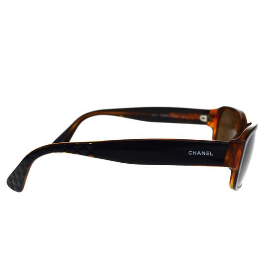 Chanel Auth CHANEL CC Quilted Sunglasses Eye Wear Plastic Bordeaux Image 3