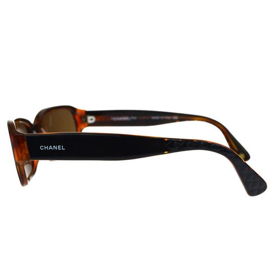 Chanel Auth CHANEL CC Quilted Sunglasses Eye Wear Plastic Bordeaux Image 4