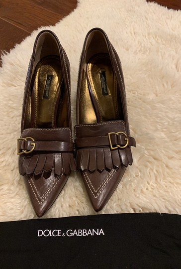 Dolce&Gabbana Dark (chocolate) brown Pumps Image 3