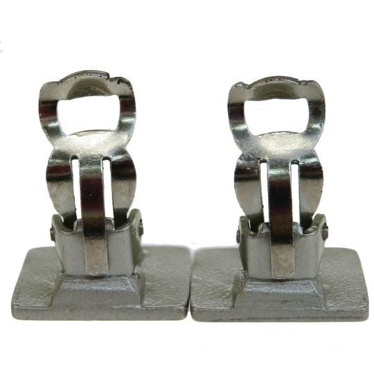 Chanel Authentic CHANEL CC Clip-on Earrings Silver Plated 99A France Accessor Image 3