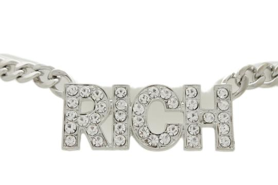 Alwaystyle4you Women Hip Hop Fashion Belt Silver Metal Chain Rich Charm Buckle XS S M Image 2