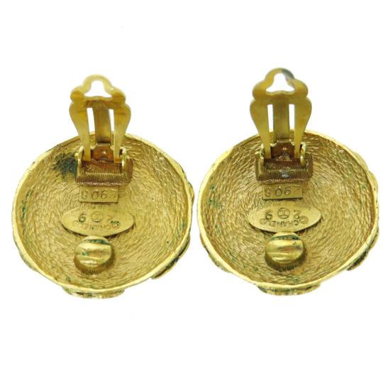 Chanel Auth CHANEL Button Imitation Pearl Earrings Clip-On Gold 92 Accessory Image 5