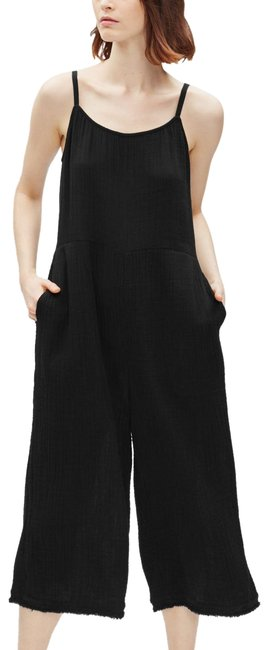 Preload https://img-static.tradesy.com/item/25956089/eileen-fisher-black-lofty-gauze-camisole-wide-leg-romperjumpsuit-0-1-650-650.jpg