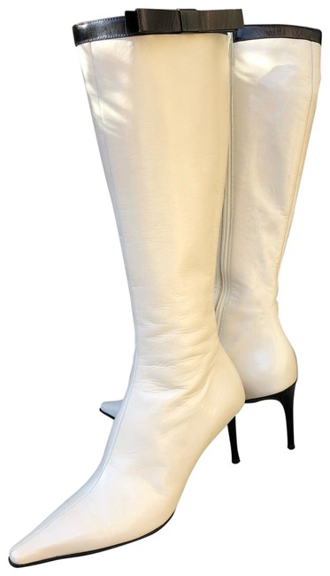 Item - Off White Black Calzature Donna In Pelle Boots/Booties Size EU 37 (Approx. US 7) Regular (M, B)