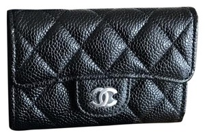 Chanel NEW Chanel Classic Flap Card Holder Caviar Leather
