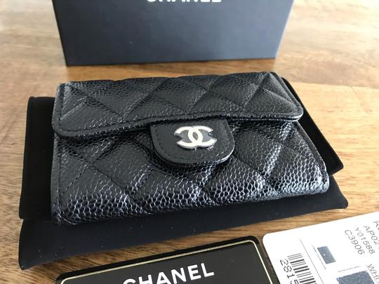 Chanel NEW Chanel Classic Flap Card Holder Caviar Leather Image 1
