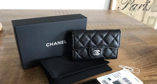 Chanel NEW Chanel Classic Flap Card Holder Caviar Leather Image 10