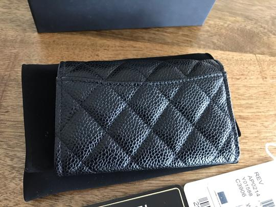 Chanel NEW Chanel Classic Flap Card Holder Caviar Leather Image 2