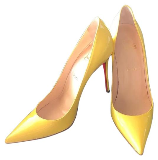 Preload https://img-static.tradesy.com/item/25956133/christian-louboutin-yellow-patent-leather-kate-pumps-size-eu-405-approx-us-105-regular-m-b-0-1-540-540.jpg