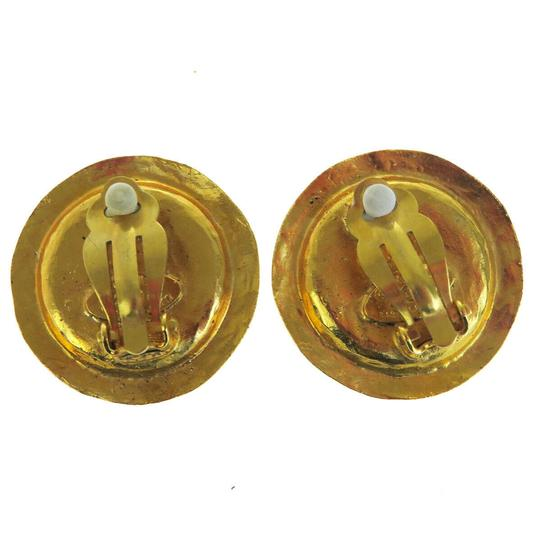 Chanel Auth CHANEL Logo Earrings Imitation Pearl Gold-tone Clip-On 28 Accesso Image 3