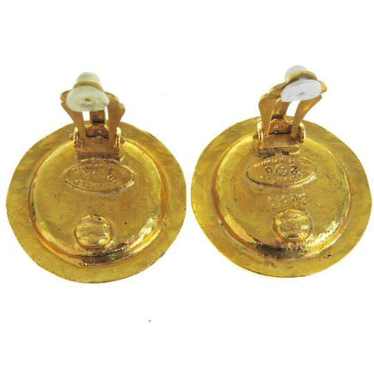 Chanel Auth CHANEL Logo Earrings Imitation Pearl Gold-tone Clip-On 28 Accesso Image 4