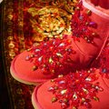 100% UGG AUSTRALIA BOOTS AUTHORS WORK SWAROVSKI CRYSTALS SIZE 9 EURO 40 Red Boots Image 4