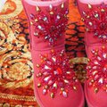 100% UGG AUSTRALIA BOOTS AUTHORS WORK SWAROVSKI CRYSTALS SIZE 9 EURO 40 Red Boots Image 9
