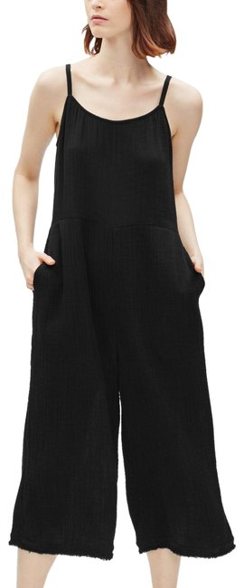 Preload https://img-static.tradesy.com/item/25956209/eileen-fisher-black-lofty-gauze-camisole-wide-leg-romperjumpsuit-0-1-650-650.jpg