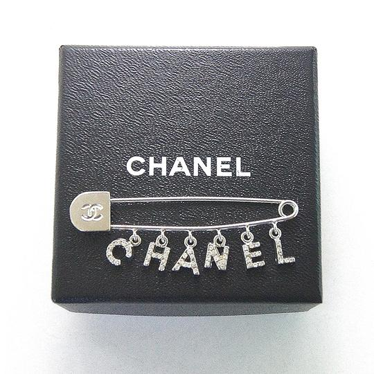 Chanel Chanel vintage silver and crystal pin brooch Image 1