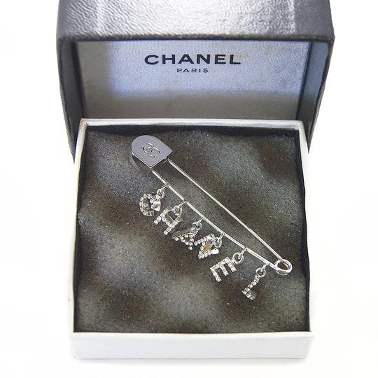 Chanel Chanel vintage silver and crystal pin brooch Image 3