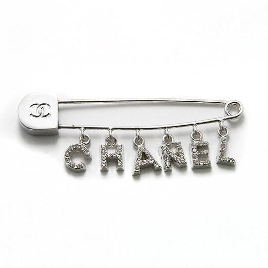 Chanel Chanel vintage silver and crystal pin brooch Image 4