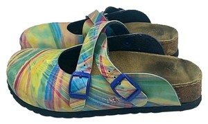 Birki's by Birkenstock Blue&Green&Yellow&Red Mules