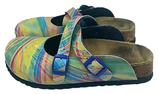 Preload https://img-static.tradesy.com/item/25956260/birki-s-by-birkenstock-blue-and-green-and-yellow-and-red-multi-color-maryjane-mulesslides-size-us-5-0-1-540-540.jpg