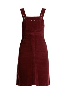 Eve Denim short dress Burgundy Reformation Helmut Lang Tory Burch Current/Elliott Alexa Chung on Tradesy