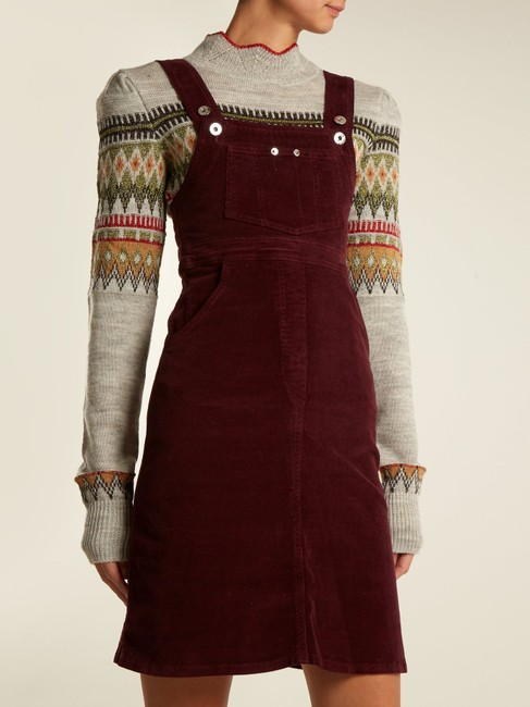Eve Denim short dress Burgundy Reformation Helmut Lang Tory Burch Current/Elliott Alexa Chung on Tradesy Image 1