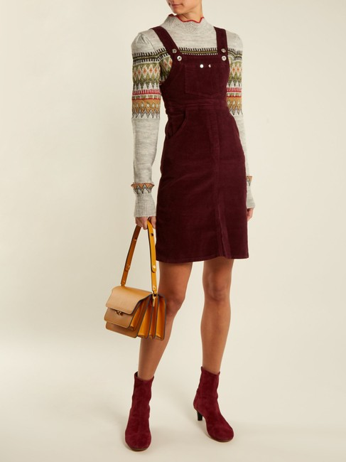 Eve Denim short dress Burgundy Reformation Helmut Lang Tory Burch Current/Elliott Alexa Chung on Tradesy Image 2
