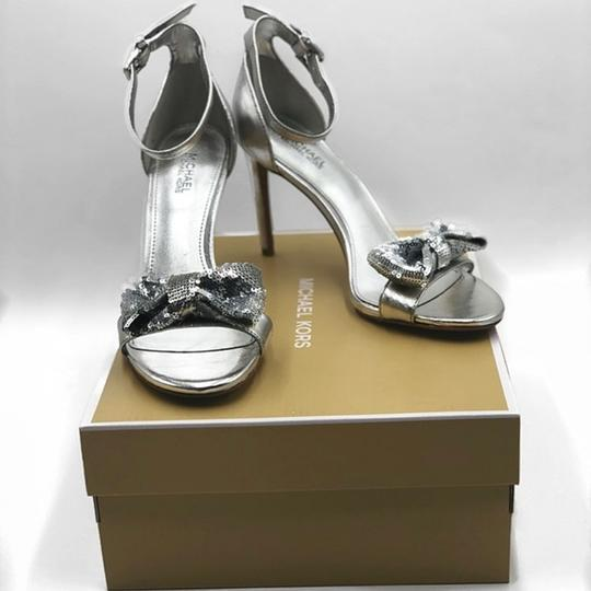 Michael Kors Party Sexy Silver Pumps Image 1