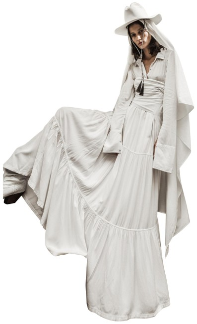 Item - White Aden Long Casual Maxi Dress Size 4 (S)
