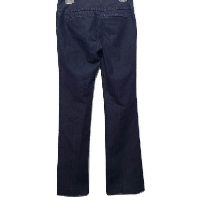 Kenneth Cole Welted Pockets Eye And Hook Closure Boot Cut Jeans-Dark Rinse Image 1
