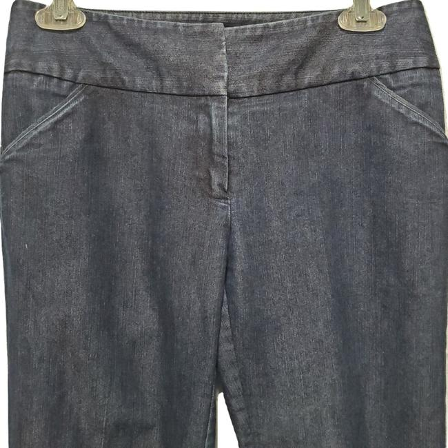 Kenneth Cole Welted Pockets Eye And Hook Closure Boot Cut Jeans-Dark Rinse Image 3