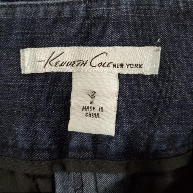 Kenneth Cole Welted Pockets Eye And Hook Closure Boot Cut Jeans-Dark Rinse Image 4
