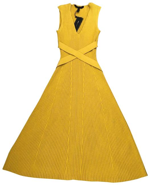 Item - Bamboo Yellow Eeh6233286-755 052019 Mid-length Night Out Dress Size 00 (XXS)