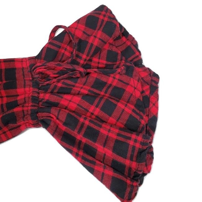 beachlunchlounge Sleeves Flannel Plaid Button Down Shirt Red Image 4