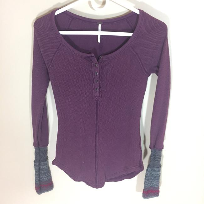 Free People Top Burgundy Image 1