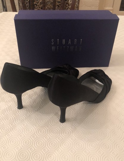 Stuart Weitzman Black Satin Pumps Image 2