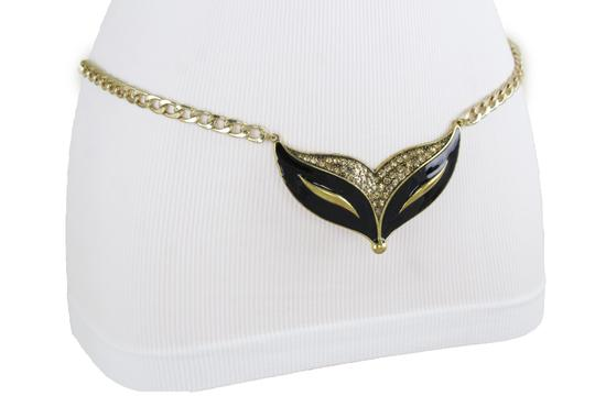 Alwaystyle4you Women Fashion Belt Gold Metal Chain Cat Face Mask Charm Buckle XL XXL Image 3