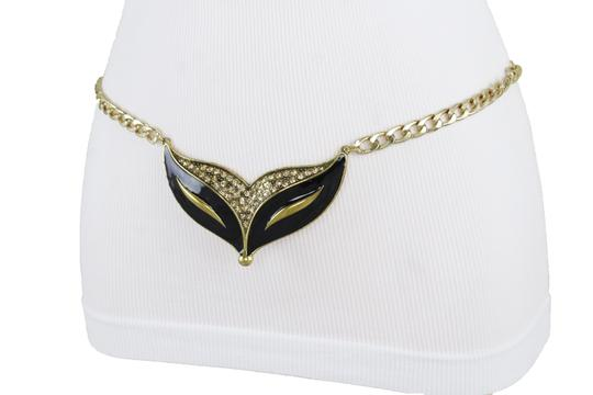 Alwaystyle4you Women Fashion Belt Gold Metal Chain Cat Face Mask Charm Buckle XL XXL Image 6
