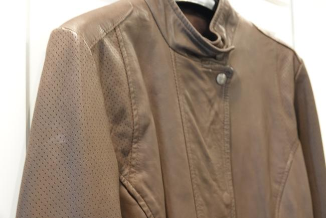 Cole Haan Motorcycle Like New Brown Leather Jacket Image 1