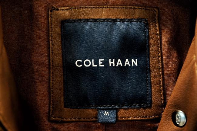 Cole Haan Motorcycle Like New Brown Leather Jacket Image 2