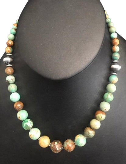 Preload https://img-static.tradesy.com/item/25956629/green-turquoise-sterling-silver-necklace-0-1-540-540.jpg