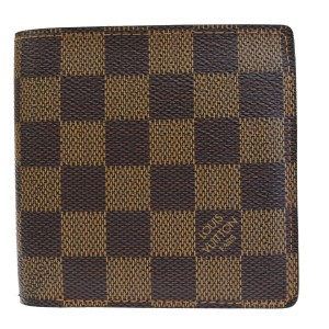 Louis Vuitton Authentic LOUIS VUITTON Marco Bifold Wallet Purse Damier Leather Brown