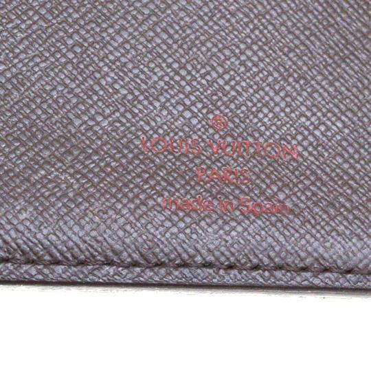 Louis Vuitton Authentic LOUIS VUITTON Marco Bifold Wallet Purse Damier Leather Brown Image 11