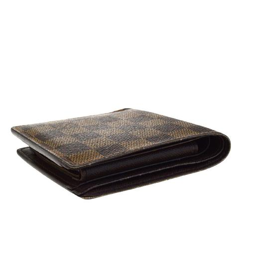 Louis Vuitton Authentic LOUIS VUITTON Marco Bifold Wallet Purse Damier Leather Brown Image 2
