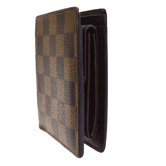 Louis Vuitton Authentic LOUIS VUITTON Marco Bifold Wallet Purse Damier Leather Brown Image 4