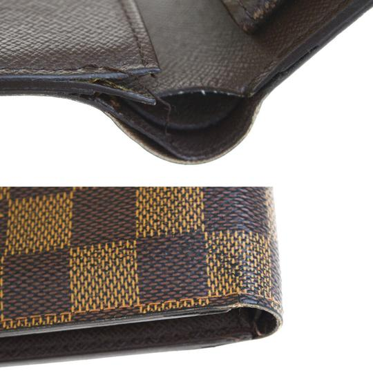 Louis Vuitton Authentic LOUIS VUITTON Marco Bifold Wallet Purse Damier Leather Brown Image 9