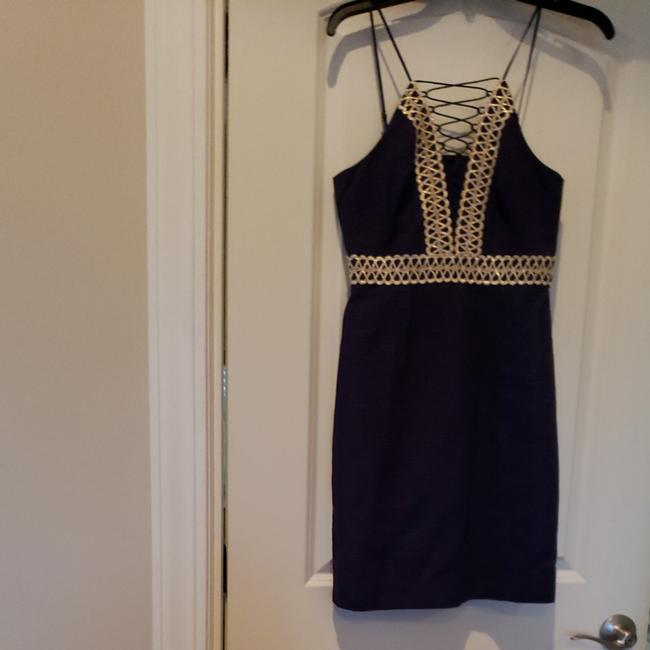 Preload https://item1.tradesy.com/images/lilly-pulitzer-true-navy-trista-shift-cocktail-dress-size-0-xs-25956640-0-0.jpg?width=400&height=650