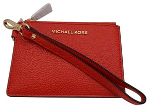 Michael Kors Michael Kors Top Zip Money Pieces Small Coin Purse Wristlet Sea Coral